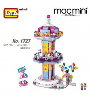 LOZ 1727 MINI Playground Nano Diamond Creative Brick Jumping Machine Building Block  584pcs