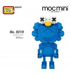 LOZ 9219 MINI Character Cartoon Nano Diamond Creative Brick Blue Monster 870pcs