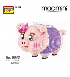 LOZ 9042 MINI Character Cartoon Nano Diamond Creative Brick Large Piggy Bank 2050pcs