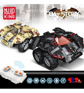 Mould King 13020 13030 Remote Control RC Bricks Block Glory Guardians Bat Man Bat Story Bat Mobile