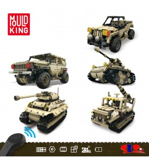 宇星模王积木 Mould King 13009/13010/13011/13012/13013 Remote Control RC Bricks Block Glory Guardians Soldier Truck