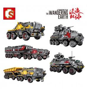 Sembo The Wandering Earth No.107005/107006/107007/107008/107009 Model Tank Truck Bricks