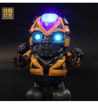 Dance Hero Robot Yellow Bee  Dancing Super Hero Lights and Music Figure