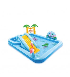 Intex 57161 Inflatable Jungle Adventure Play Centre Swimming Pool with slide IT57161 Kolam Gelongsor Play Ground 滑梯泳池