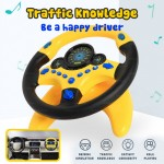 Copilot Simulated Steering Wheel Toy Children's Educational Traffic Knowledge Sounding Toy