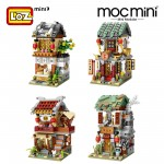 LOZ 1722/1723/1724/1725 MINI Chinatown Nano Diamond Creative Brick Building Block