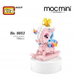 LOZ 9853 MINI Music Box Nano Diamond Creative Brick Unicorn Block Pink Cute Musical Box 720pcs