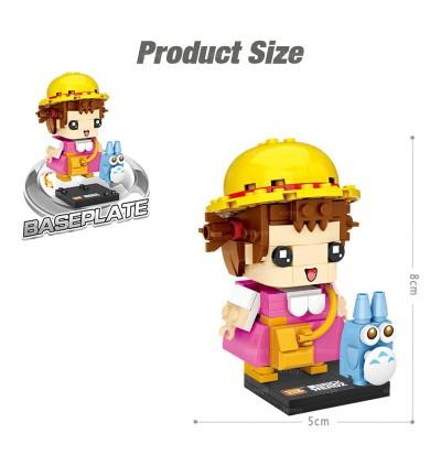 LOZ 1464 MINI Character Cartoon Nano Diamond Creative Brick Little Girl 105pcs