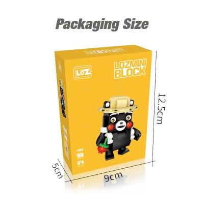 LOZ 1466 MINI Character Cartoon Nano Diamond Creative Brick Kumamon 230pcs