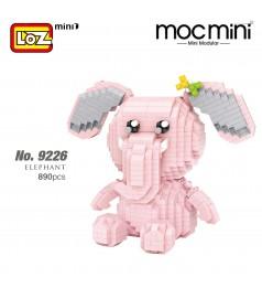 LOZ 9226 MINI Character Cartoon Nano Diamond Creative Brick Elephant 890pcs