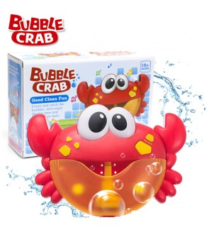 Toy Bubble Maker Bathroom Bubble Crab Baby Bath Machine Battery Operated