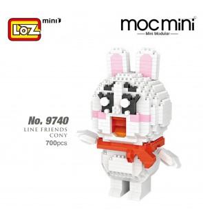 LOZ 9740 MINI Character Cartoon Nano Diamond Creative Brick Line Friends Cony Bunny Rabbit 700pcs