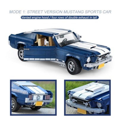 LP No.21047 Creator Expert Ford Mustang GT Compatible Set Building Block 1648pcs