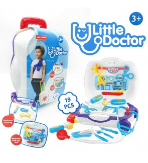 Little Doctor Kids Toys Pretend Play Cartoon Medical Luggage Play Set Blue toys for girls