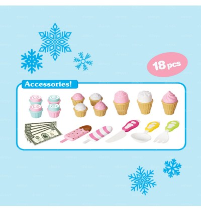 Fever Fashion Girls Pretend Play Ice Cream Shop Cart Toys toys for girls