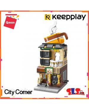 Qman C0102 Keeppley Keepplay Keep Pley Play Crossroad Cafe Coffee Shop Building Block 332pcs