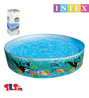 Intex Snapset Backyard Round 6 ft 6ft x 15 Inch Swimming Pool (Random Design) IT 58458NP IT 58461 NP IT 56452 NP