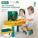 Multi-Function Learning Block Table Desk Chair Building Kid Children Eat Play [Large Granular Panel] Moyu 7819