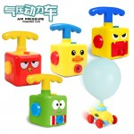 Air Pressure Balloon Powered Car Cute Characters Mini Pump Push Car for Kids Children Age 6+