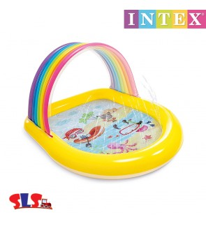 Intex 147cm Rainbow Arch Spray Kids Swimming Pool IT 57156NP