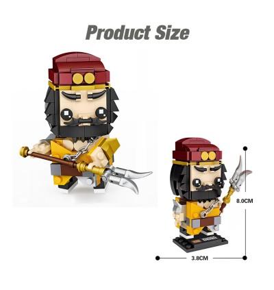 LOZ 1455Zhang Fei 张飞 MINI Character Cartoon Brick Headz Nano Diamond Creative Brick 200pcs
