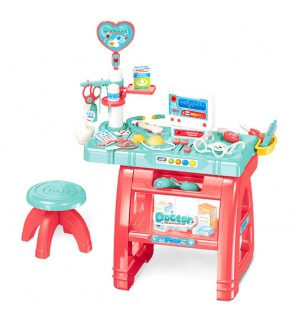 Play House Medical Tool Set Small Doctor Clinic with Light and Music Pretend Play