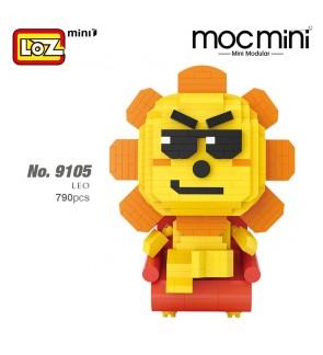 LOZ 9105 MINI Character Horoscope Leo Cartoon Uncle Tongdao Nano Diamond Creative Brick 790pcs