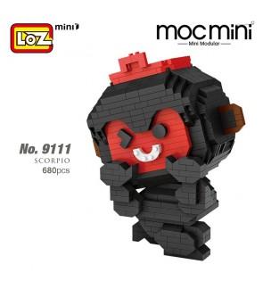 LOZ 9111 MINI Character Scorpio Cartoon Uncle Tongdao Horoscope Nano Diamond Creative Brick 680pcs