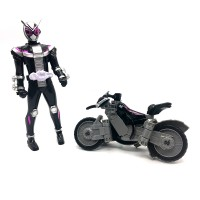 (Random Color) Keman Rider Time Knight Masked Superman Motorcycle Transform Build Henshin Transform Mini Figure