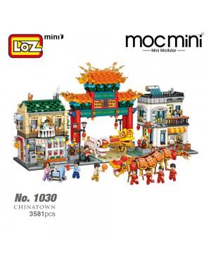 LOZ 1030 Chinatown CNY Chinese New Year China Series Ancient Building Architecture Nano Diamond Creative Brick 3581pcs