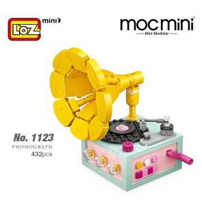 LOZ 1123 Phonograph Model MINI Ancient Classic Nano Diamond Creative Brick 432pcs