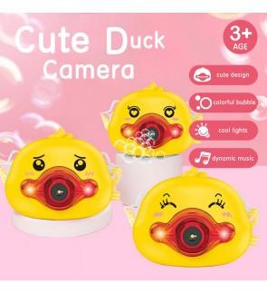 [Random Design] Cute Duck Bubble Camera Light Music for Children Outdoor Fun