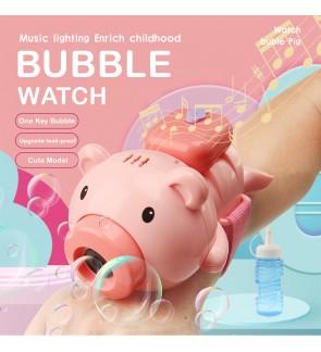 Cute Pink Bubble Wrist Watch Light Music for Children Outdoor Fun