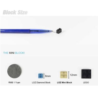 LOZ 1542 MINI Character Cartoon Nano Diamond Creative Brick Takebu 324pcs