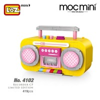 LOZ 4102 Yellow Radio MINI Character Cartoon Nano Diamond Creative Brick Recorded Model 419pcs