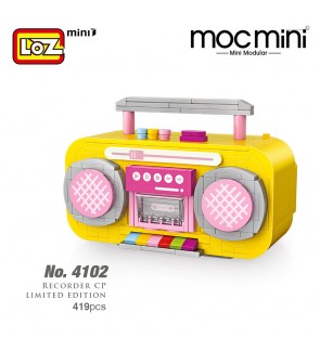 LOZ 4102 Yellow Radio MINI Character Cartoon Nano Diamond Creative Brick Recorded Model 419pcs