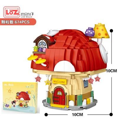 LOZ 4103 Mushroom House Fairy Tale Nano Diamond Creative Brick Building Blocks 674pcs