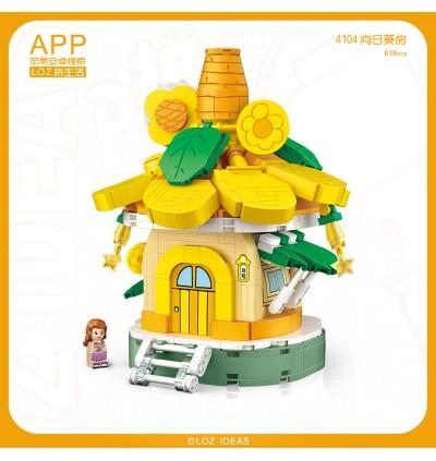 LOZ 4104 Sunflower House Fairy Tale Nano Diamond Creative Brick Building Blocks 616pcs