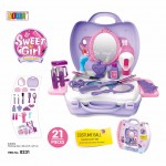 BOWA Kids Pretend Play Suitcase Sweet Girl Funny Box Set