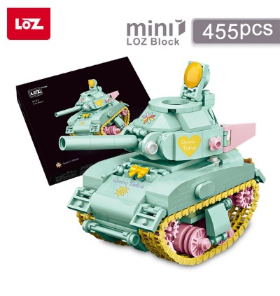 LOZ MINI Nano Diamond Creative Brick 4101 CP Limited Edition Tank 455pcs