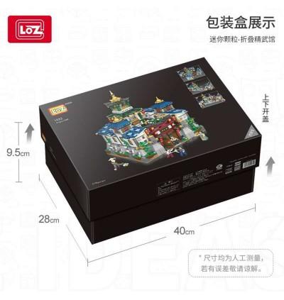 LOZ 1032 Jing Wu Guan Wushu Chinese Ancient Street Series Kung Fu 3 Mode 精武馆 Nano Diamond Creative Brick 2770pcs
