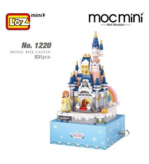 LOZ 1220 Music Box Castle Princess Block Cute Musical Box Nano Diamond Creative Brick 531pcs