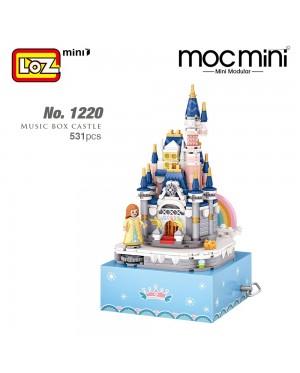 LOZ 1220 Music Box Castle Princess Block Cute Musical Box Nano Diamond Creative Brick 531pcs