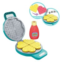 Light-Sensitive Color Changing Food Blue Pancake Waffle Pan Muffin Machine Pretend Play Children Play House Kitchen Set