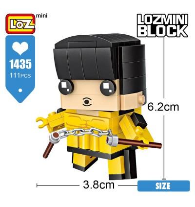 LOZ 1435 Character Cartoon Nano Diamond Creative Brick Bruce Lee Building Block 111pcs