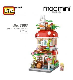 LOZ 1651 MINI Nano Diamond Creative Brick Mushroom House Building Blocks Bricks 417pcs