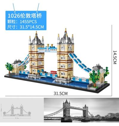 LOZ 1026 Tower Bridge Building Architecture Nano Diamond Creative Brick 1455pcs