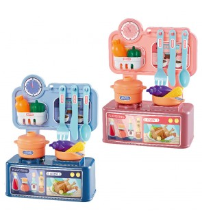 24cm Dream Kitchen Set Cooking Mini Stove Table Children Pretend Play