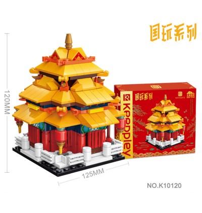 Qman Brick K10120 CNY Chinese New Year Series Mini Turret Keeppley Keepplay Building Blocks