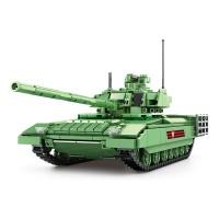 SY Sheng Yuan 0101 SY0101 T-14 Armata Main Survival Battle Tank Vehicle Building Block Bricks 1020pcs